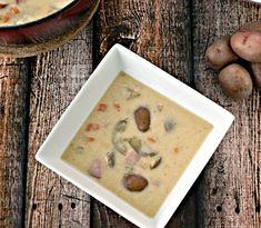 Creamy, tender Creamer potatoes are the star in this lusciously hearty soup, perfect for the cold weather, and easy on the waistline.