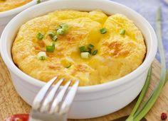Suflê de Mandioquinha com Queijo...  #sufle #mandioquinha #queijo
