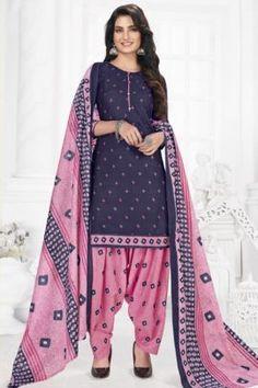 Patiyala Dress, Daily Wear, Printed Cotton, Duster Coat, Kimono Top, Suits, Purple, Fabric, How To Wear