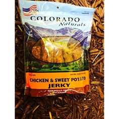 Chicken & Sweet Potato Jerky Dog Treats. Made in USA with 100% U.S.D.A. Chicken. 1lb by Colorado Naturals ~ You can click image to review more details. (This is an affiliate link and I receive a commission for the sales)