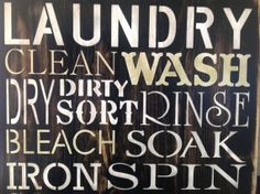 large wood primitive laundry room sign, 16 x 16, wash room decor, fluff, fold, wall decor,