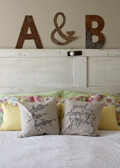 DIY hers and his pillows