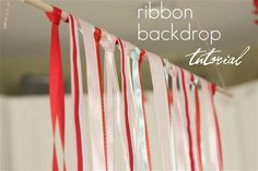 ribbon backdrop tutorial