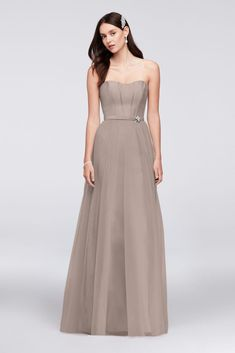 dbe62d501e120 10892571 - Strapless Mikado and Tulle Long Bridesmaid Dress High Low Bridesmaid  Dresses