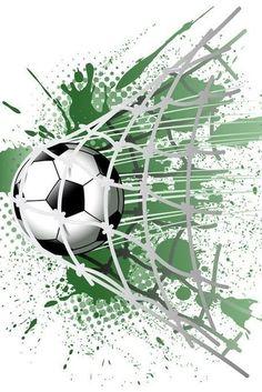 Soccer Room, Soccer Art, Soccer Poster, Football Art, Football Themes, Heart Template, Hand Art, Sports Art, Sports Decals