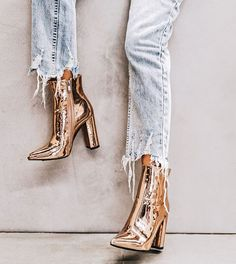 Love the metallic boots!