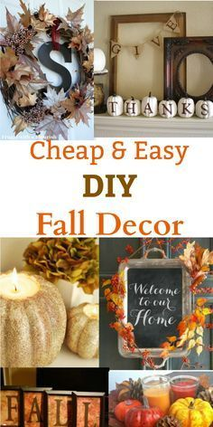 Add a unique look to your home and front porch with these DIY Fall decor ideas. All of these crafts are cheap and easy to make. I'm not crafty and even I can make them!
