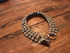 """Check out this fab Vintage Signed Weiss 7"""" Triple Strand Clear Rhinestone Bracelet in my #etsy shop:  http://etsy.me/2Dl8fyA #jewelry #bracelet #silver #wedding #christmas #women #midcentury #estate #1950s"""