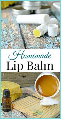 Homemade lip balm | making your own is really easy and such a money saver versus buying organic lip balm! This homemade lip balm is good at sealing in the moisture and only needs 3 ingredients!