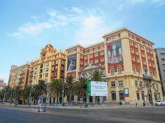Fachada Plaza de la Marina Española. Málaga.