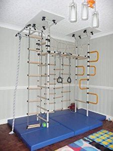 Indoor climbing frame 'Jungle Gym' Home Jungle… Indoor Jungle Gym, Indoor Gym, Soft Flooring, Gym Room, Indoor Playground, Dream Rooms, Kid Spaces, My New Room, Kids Bedroom