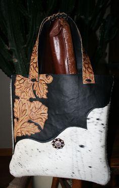 Cowhide handbag by CouleeDesigns
