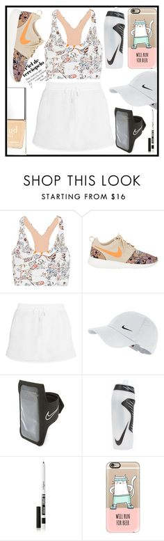 """""""Untitled #1143"""" by kawtar-el ❤ liked on Polyvore featuring Lucas Hugh, NIKE, Eyeko, Casetify and Butter London"""