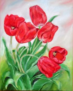 Tulipany :: Galeria Wiera Painting, Art, Flowers, Painting Art, Paintings, Kunst, Paint, Draw, Art Education