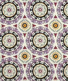 Amazon.com: Waverly Solar Flair Onyx/Lilac Fabric - by the Yard: Home & Kitchen