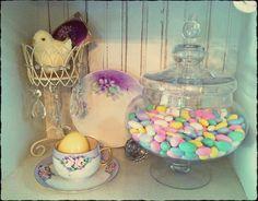 Easter decor on the shelf | Flickr - Photo Sharing!