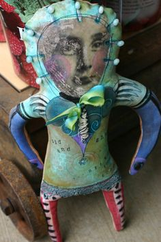 Art Doll Close 2 my art, Michelle Allen