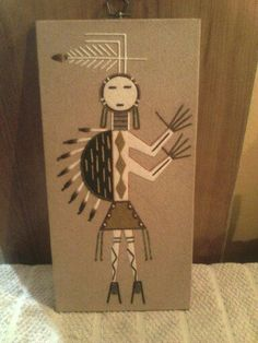 Pictures of sand paintings google search school history vintage southwestern native american sand painting sciox Image collections