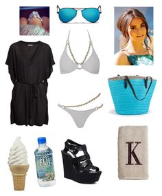 """""""Beach day with Kaylie"""" by batgirl-natasja on Polyvore featuring Agent Provocateur, H&M, Ray-Ban, Steve Madden, Avanti, Coppertone and Verragio"""