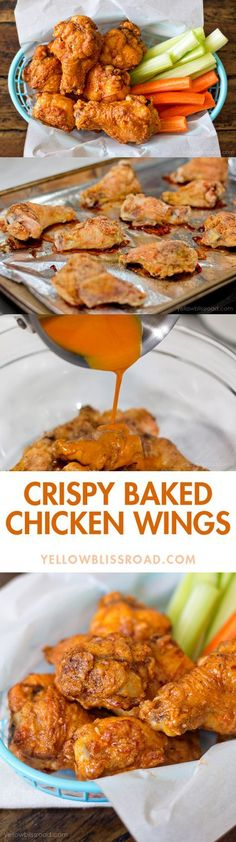 Crispy Baked Chicken Wings with Hot Sauce #bighero6movienight #ad