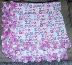 Fleece Baby Blanket with Crocheted Edge-Large