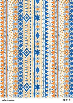 Atelier Hirundo / Elise ENJALBERT #illustration #drawing #textiledesign #textileprint #surfacedesign #pattern #motif #patterndesign #print #design #graphic #atelierhirundo #aztec #ikat #ethnicprint #triangle #geometrie #