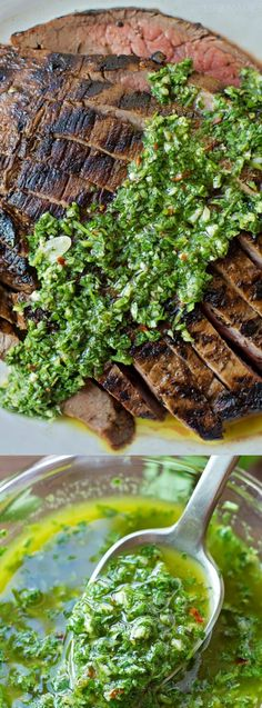 If you love a good steak then this Grilled Flank Steak + 1 Minute Chimichurri Sauce from Life Made Simple is the recipe you want to make! It comes our perfect, tender and full of flavor every single time.