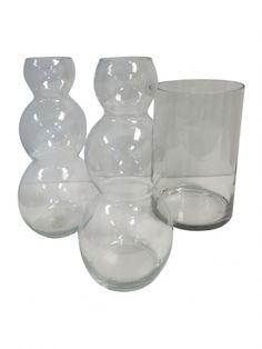 Three Contemporary Glass Vases