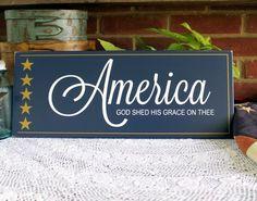 Wood Sign Patriotic