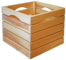 crate cubes | Wood Storage Cube Crate for Floor or Wall (Hang or Stack Bin ...