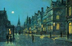 Park Row at Night by Wilfred Jenkins