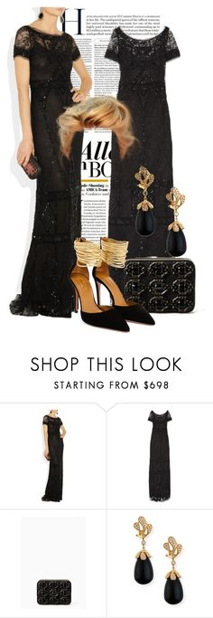 """""""Emilio Pucci Embellished Black gown"""" by ivanoe ❤ liked on Polyvore featuring Emilio Pucci, Kate Spade, Miseno and Aquazzura"""
