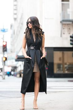 Fashionable vests - photos, styles, trends, images with vests Vest Outfits, Mode Outfits, Casual Outfits, Fashion Outfits, Dress Casual, Street Style, Street Chic, Style Désinvolte Chic, My Style