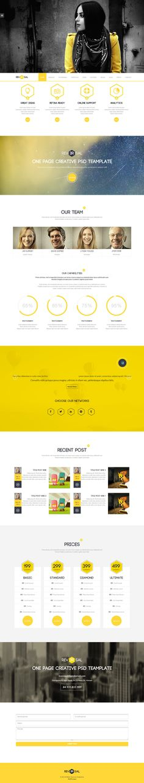 One Page Drupal Theme - Reversal - WP Mustache - Drupal Templates