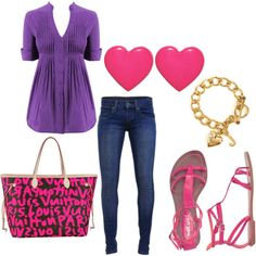purple and pink. Love this...
