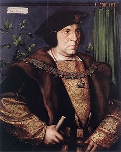 Portrait of Sir Henry Guildford. By Hans Holbein the Younger, 1527. Sir Henry was a great favorite of Henry VIII, ending his career at court as Comptroller of the Royal Household, whose baton of office he holds. He also wears the Order of the Garter, awarded to him in 1526. He was a strong proponent of religious reform. He had also accompanied Henry VIII to the Field of the Cloth of Gold.