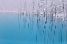 First snow falls in the blue pond by Kent Shiraishi on 500px