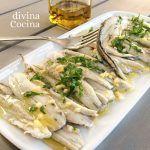 boquerones-en-vinagre-bandeja Mexican Snacks, Spanish Kitchen, Chicken Salad Recipes, Gordon Ramsay, Paella, Tapas, Potato Salad, Food And Drink, Appetizers