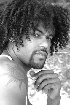 Black Mens Hairstyles , African American Men Haircuts 2015 : The Medium Length Natural Curly And Kinky Hair 2015