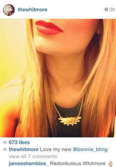 Laura Whitmore wearing our mini Angel gold acrylic necklace on 'I'm a Celebrity Get me Out of here. Laura Whitmore, Celebrity Pictures, Bling Jewelry, Chokers, Angel, Celebrities, Mini, Wall, How To Wear