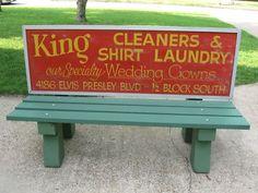 Elvis Presley Blvd Bus Stop Bench | eBay