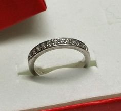 Vintage Ringe - 19 mm Ring Silber 925 Kristalle klar Glitzer SR853 - ein Designerstück von Atelier-Regina bei DaWanda