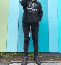 Monochrome outfit with Futura x The Weeknd hoodie. Make sure you check out my upcoming unboxing review. Thank Chau for 📸. #nakanarilife #nakanarikicks #thewebster #theweekndmerchandise #futura #theweekndxfutura #yeezy350 #pacsun #adidasoriginals #youtuber #vlogger