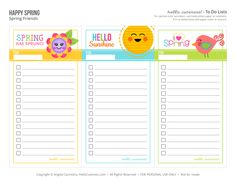 {Free Printable} Spring Friends To Do Lists — Hello, Cuteness!