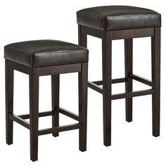 Like our popular Mason Bar Stool, this stool features simple lines, including a hand-built wooden frame with smooth, durable bonded leather. A baseball-stitched seam on the top of the seat enhances its modern design, as do tapered legs finished in deep espresso. The difference? This clever variation specializes in tight spaces and slides neatly under bar or countertop.