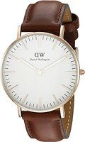 Daniel Wellington Women's 0507DW Classic St. Mawes Stainless Steel Watch with Brown Band