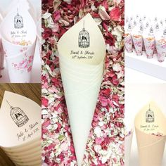 confetticonecompany shared a new photo on Etsy Confetti Cones, Know Your Name, Wedding Planning, Wedding Ideas, Wedding Confetti, Delphinium, Biodegradable Products, Favorite Color, Fill