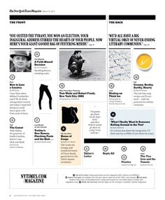 New York Times Magazine. Web design using strict grid layout