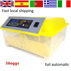 49.00$  Buy here - http://alisil.worldwells.pw/go.php?t=32508938271 - Full automatic Egg-Turning Automatic Digital 56 Eggs Incubator For Hatching Chicken  Incubadora Poultry Hatcher incubator 49.00$