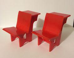 Dollhouse Miniature School Desks
